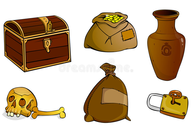 Download Chest with treasures stock illustration. Image of monetary - 3310938