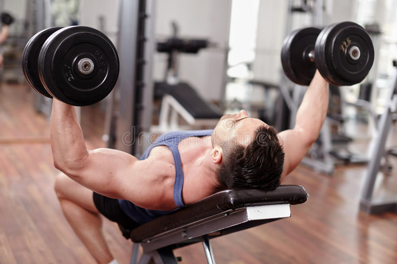 Download Chest Workout On Bench Press Stock Image - Image of lift, lifestyle: 39983035