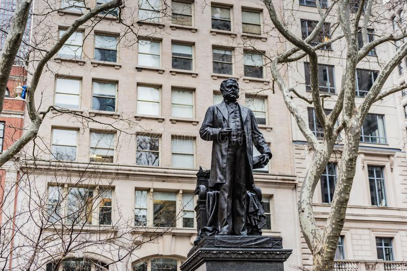 Chester Arthur Statue - New York City images stock