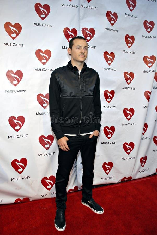 Chester Bennington on the red carpet. stock image