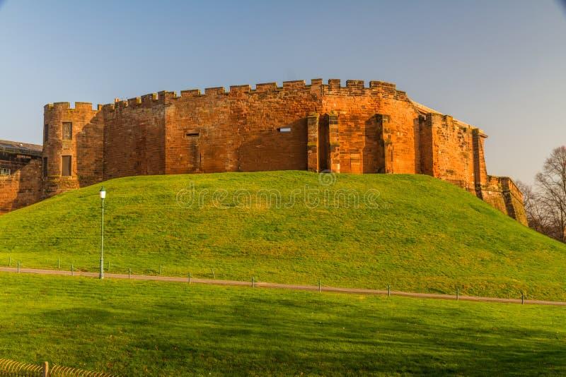 Chester Castle alla luce bassa di pomeriggio immagine stock