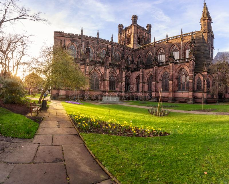 Chester Cathedral à Chester, R-U image stock