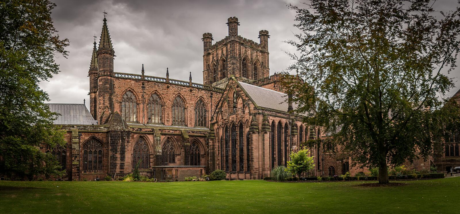 Chester Cathedral stock foto's