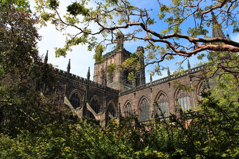 Chester Cathedral foto de stock