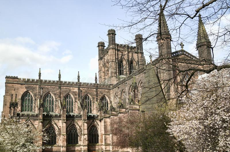 Chester Cathedral, Angleterre R-U photographie stock libre de droits