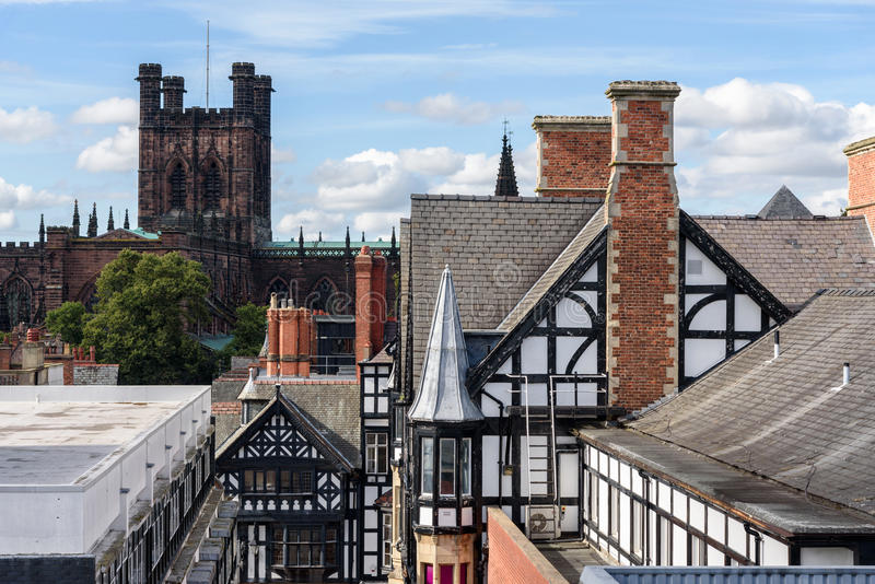 Chester Cathedral England stock afbeelding