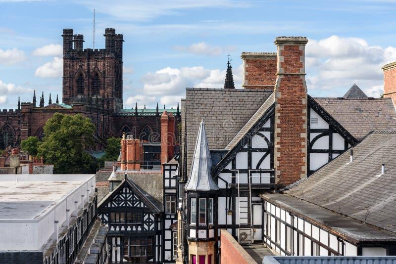 Chester Cathedral England fotografering för bildbyråer