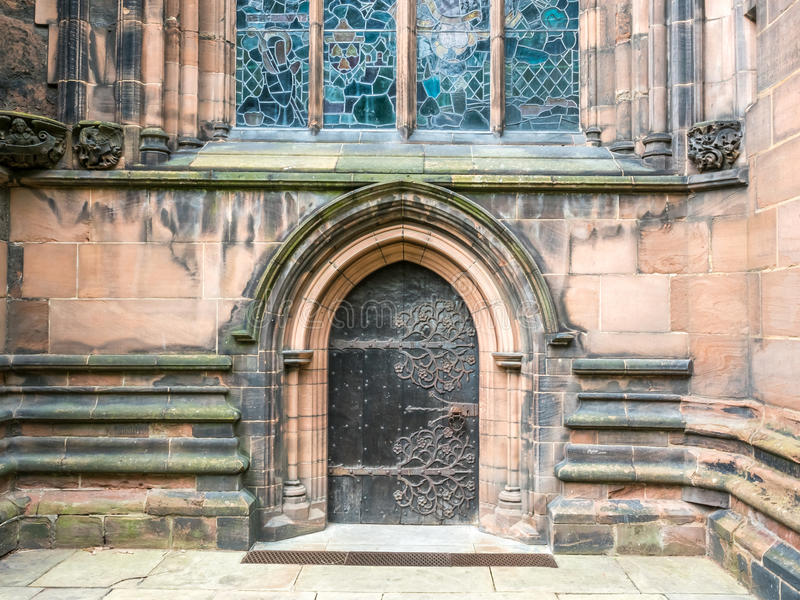 Chester cathedral in England stock images