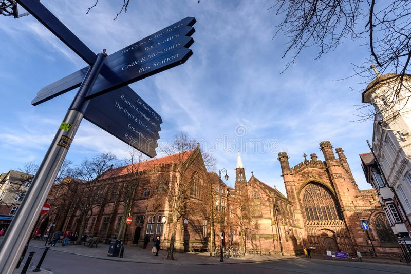 Chester Cathedral Uk arkivfoton