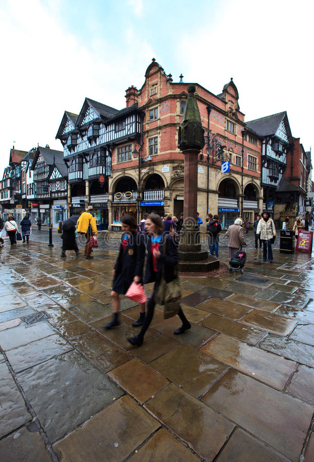 Download Chester City Center In Busy Midday Editorial Photography - Image: 25897722