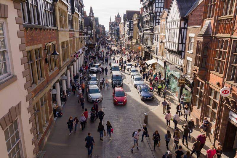 Chester City England fotos de archivo