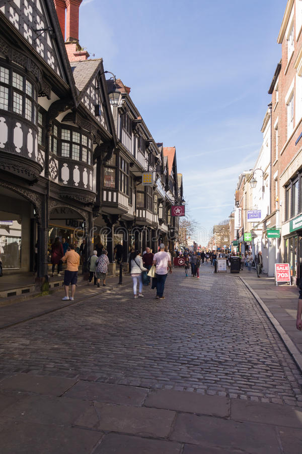Chester City Northgate Street arkivbild