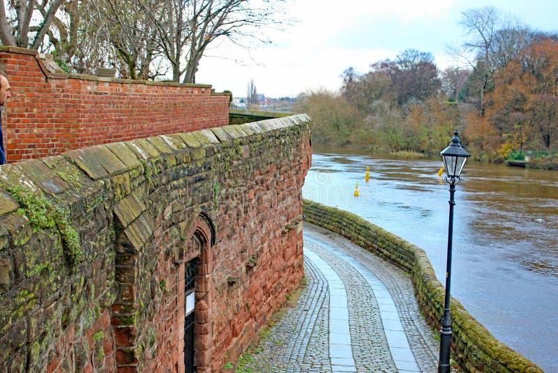 Chester City Walls imagen de archivo libre de regalías