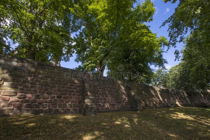 Chester City Walls photo stock