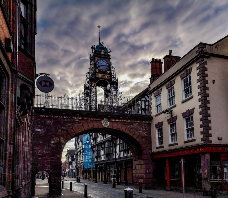 Chester clock, United Kingdom stock photos