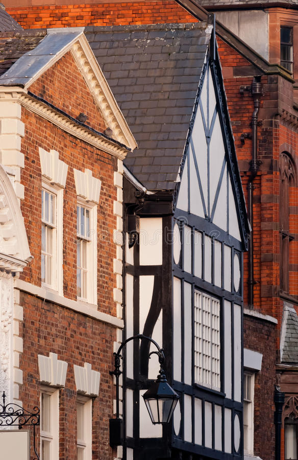 Download Chester, England, Black And White Building Detail Stock Image - Image: 28846735