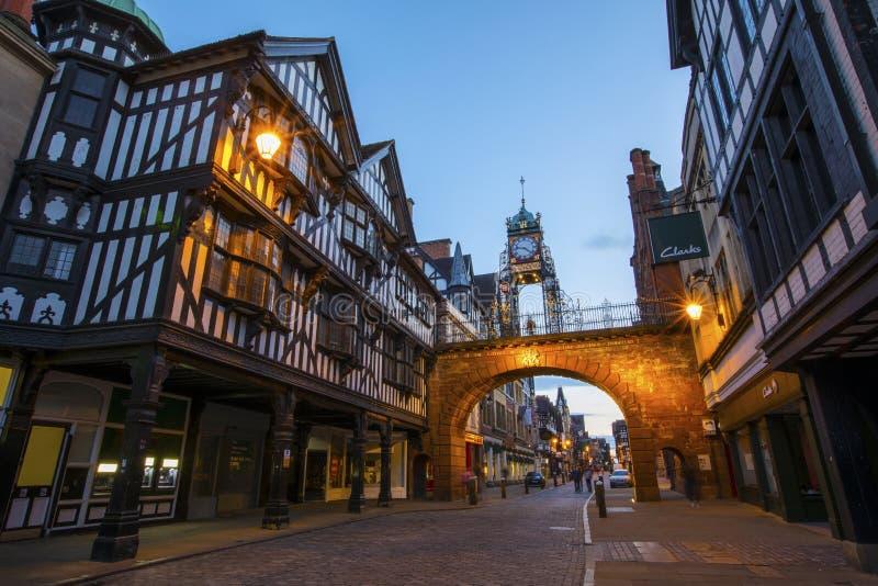 Chester in het UK stock foto