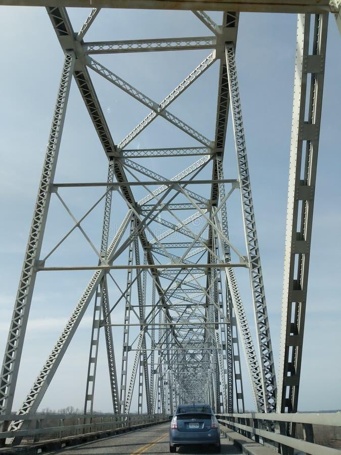 Chester Illinois most nad rzeką mississippi fotografia royalty free