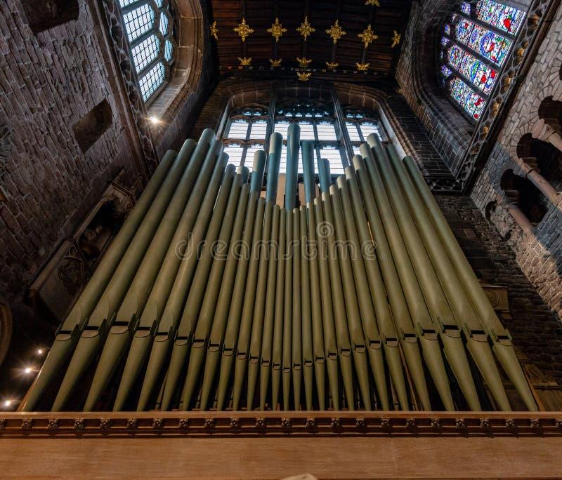 CHESTER, R-U - 8 MARS 2019 : Une fin de Chester Organ photo stock