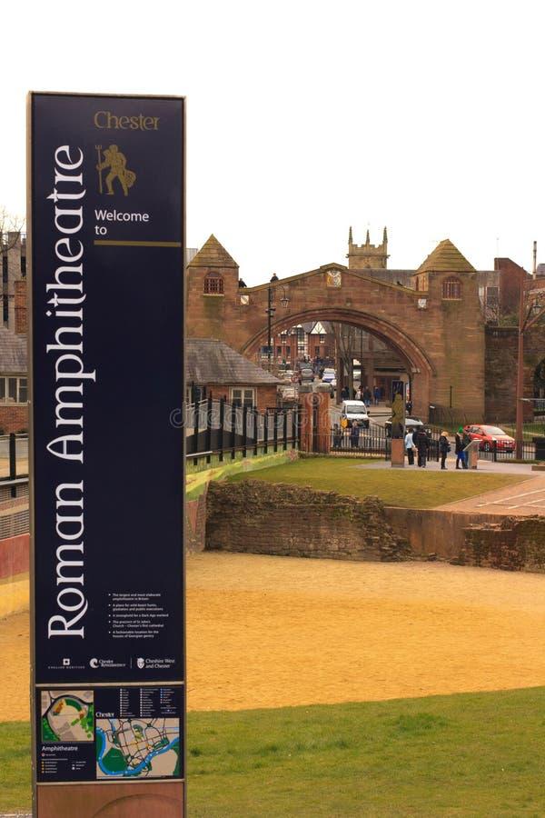 Chester Roman Amphitheatre stock foto's