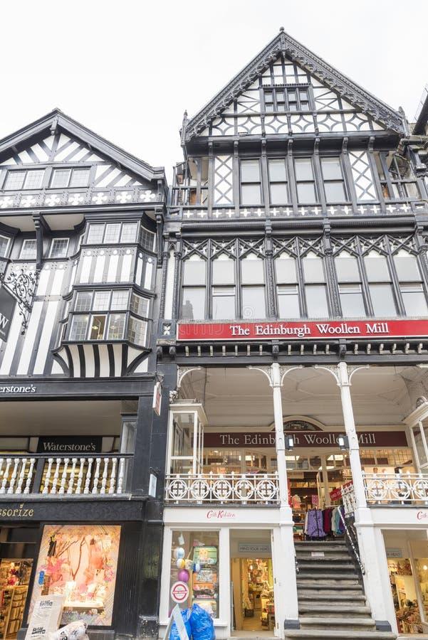 Chester Shopping Rows stockbild