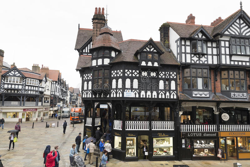 Download The Chester Shopping Rows editorial stock image. Image of exterior - 41828284