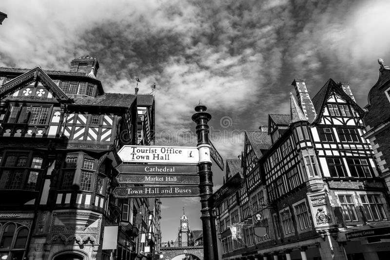 Chester shoppingmitt royaltyfri foto
