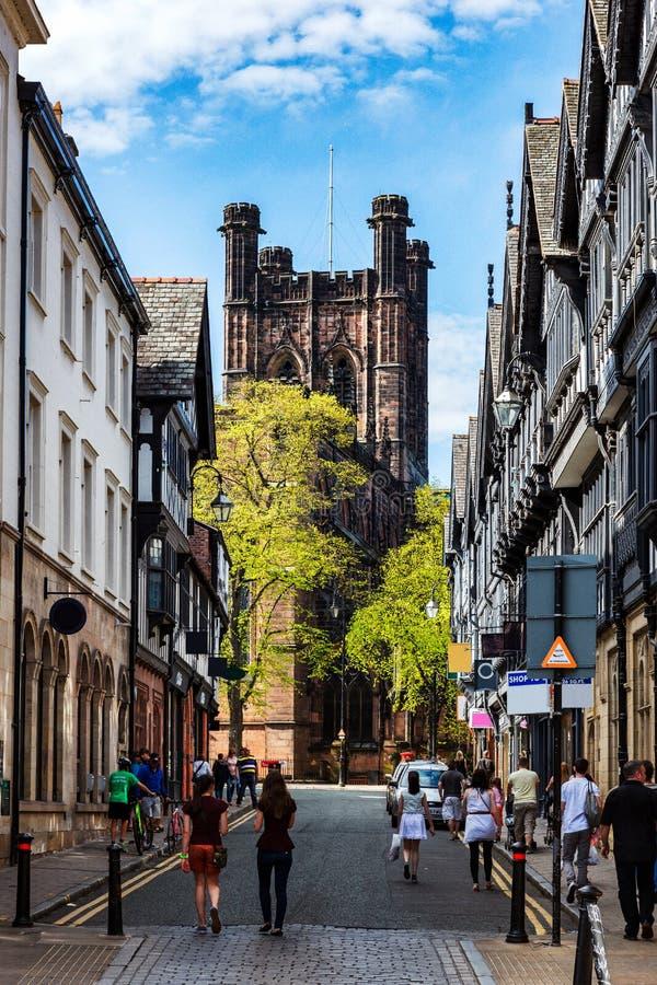 Chester stad, England royaltyfri fotografi