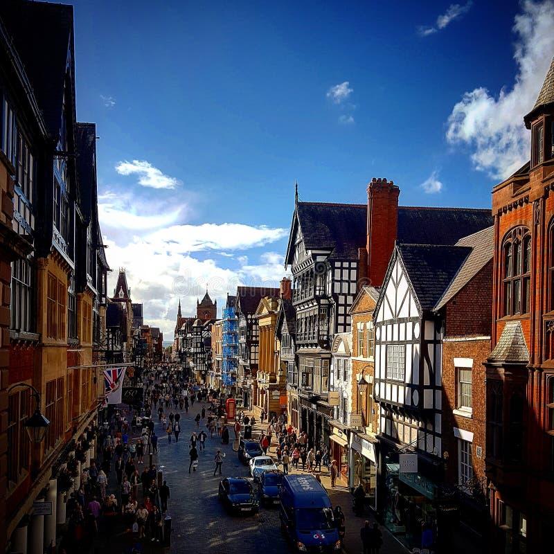 Chester Town lizenzfreie stockfotos