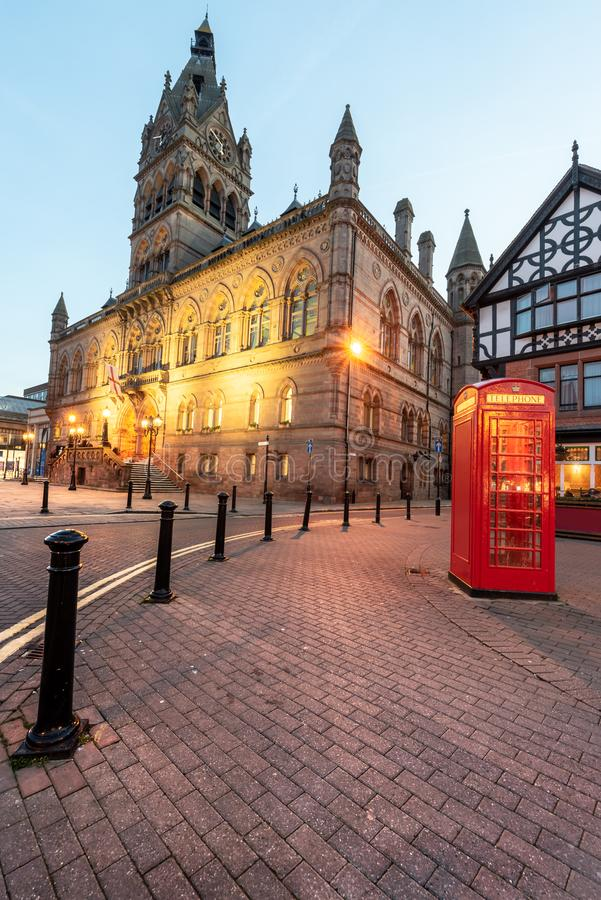 Chester Town Hall R-U image stock