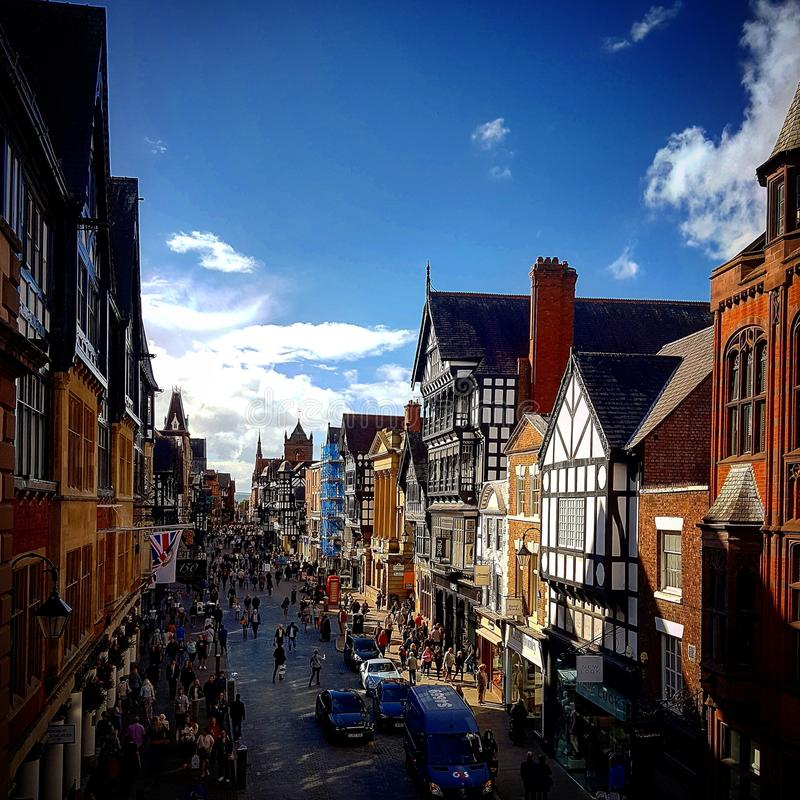Chester Town royalty free stock photos