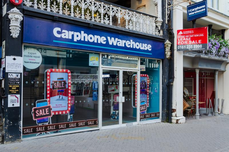 Carphone Warehouse standalone store in Chester royalty free stock photos