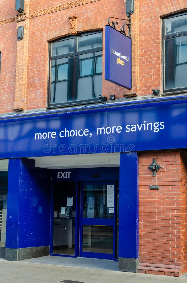 Vacant and closed Poundworld shop in Chester royalty free stock images