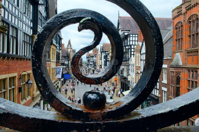 Chester UK, stadsmitt arkivbild