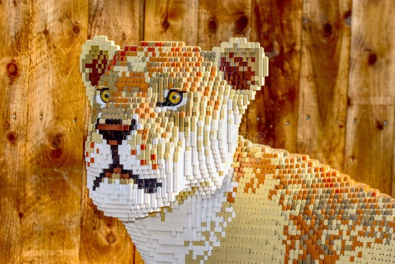 Chester Zoo Lego Animals royalty-vrije stock afbeeldingen