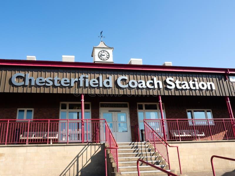 Chesterfield-Bus- und -trainerstation, Chesterfield, Derbyshire, England lizenzfreie stockbilder