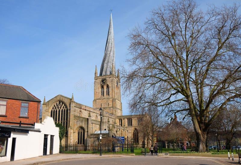Chesterfield Farny kościół fotografia royalty free
