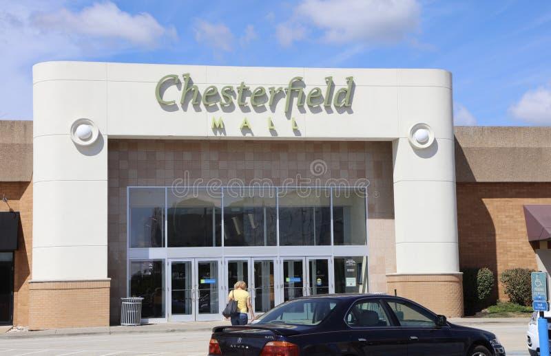 Chesterfieldsoffagalleria, chesterfieldsoffa, Missouri arkivbilder