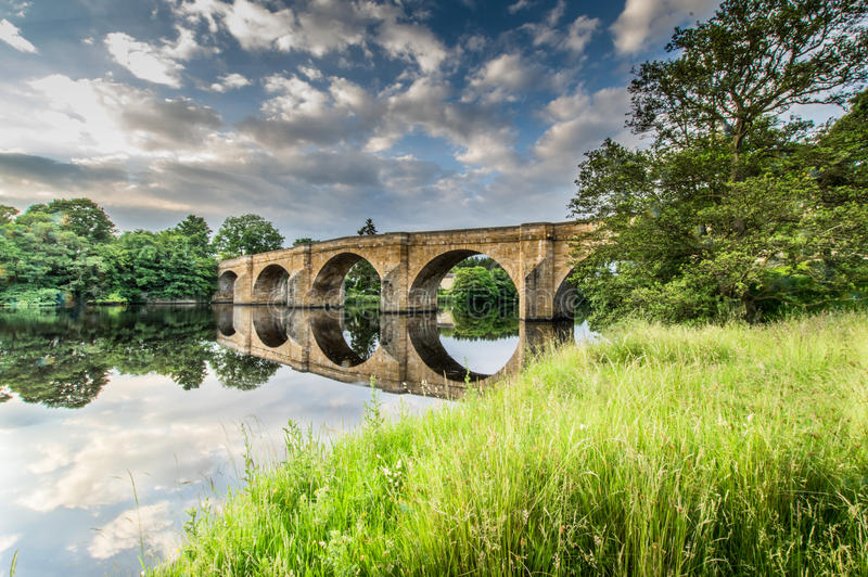 Chesters Bridge royalty free stock image