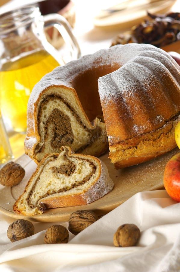 Chestnut cake stock images