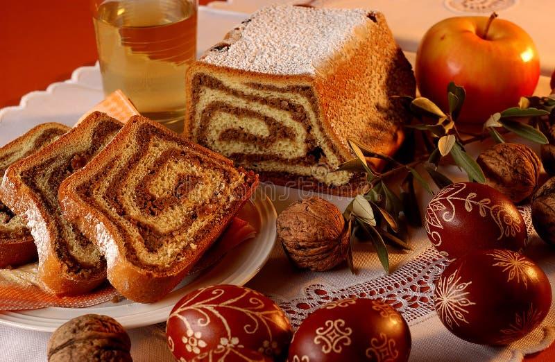 Chestnut cake for easter stock photography