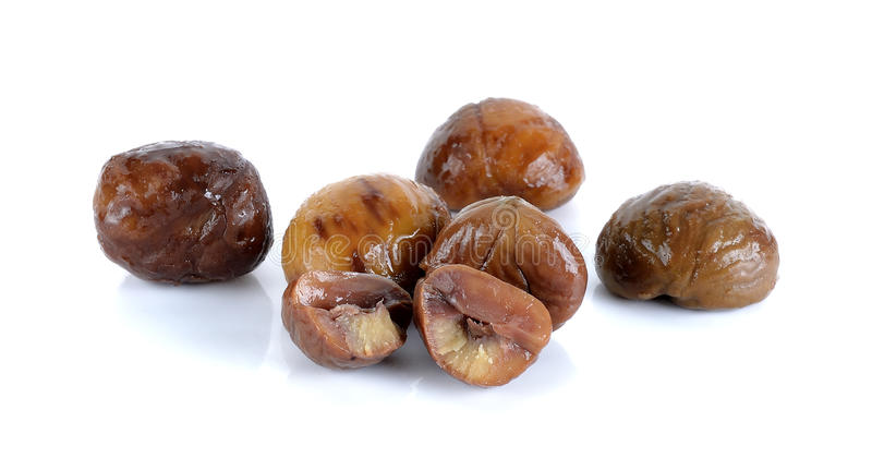 Chestnut isolated on the white background.  stock images