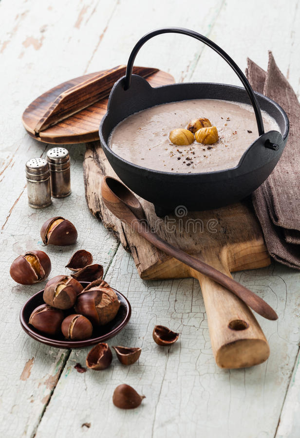 Free Chestnut Soup Royalty Free Stock Images - 45020729
