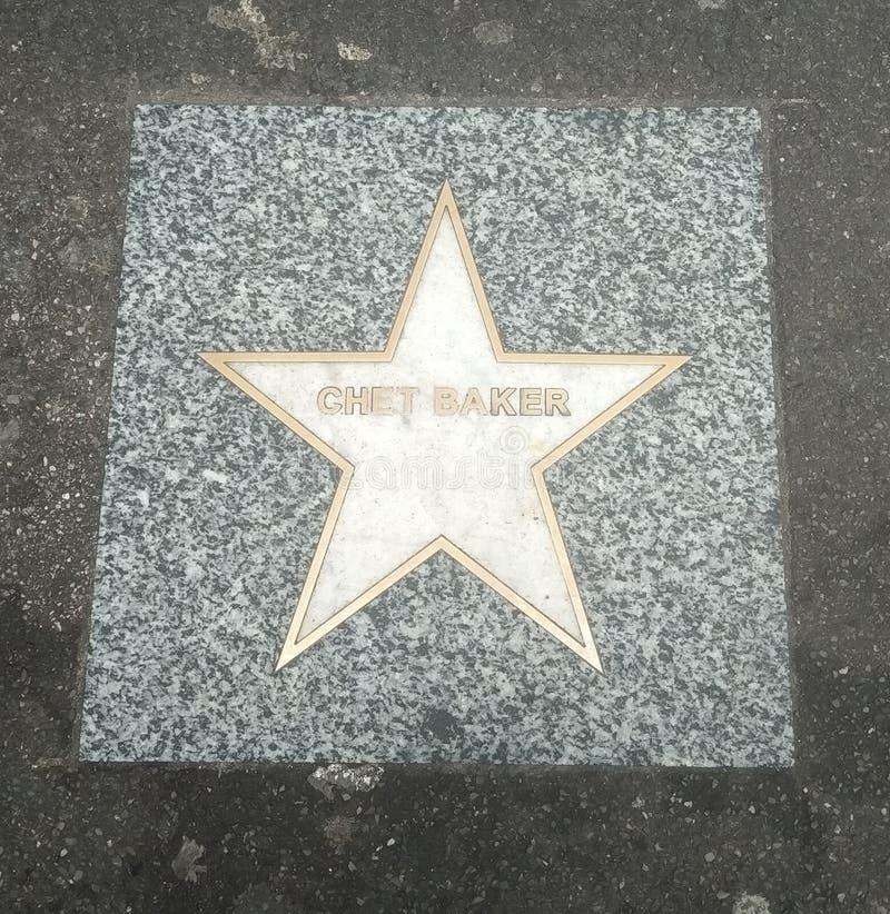 Chet Baker memorial star in Bologna stock photo