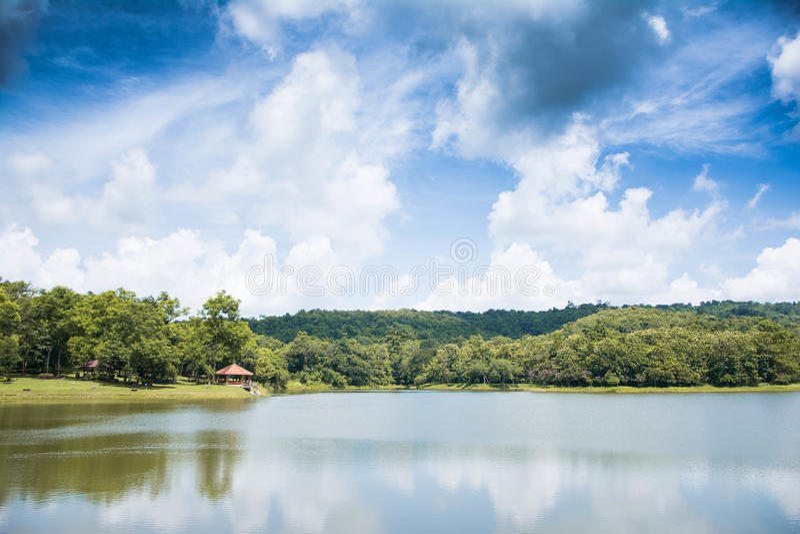 Chet Khot dam. Chet Khot and sky is beautiful stock photo