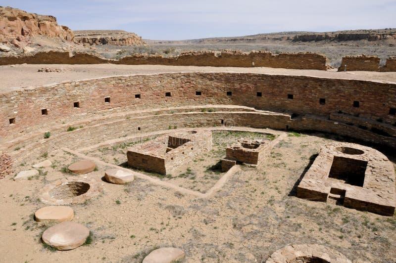 Chetro Ketl, Great Kiva ruins, Chaco Canyon, New Mexico (USA) stock photos