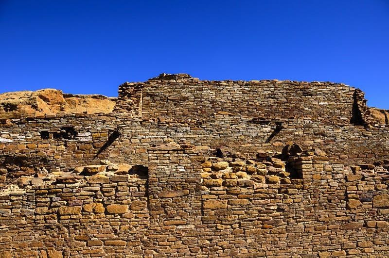 Chetro ketl ruin at Chaco Canyon royalty free stock image