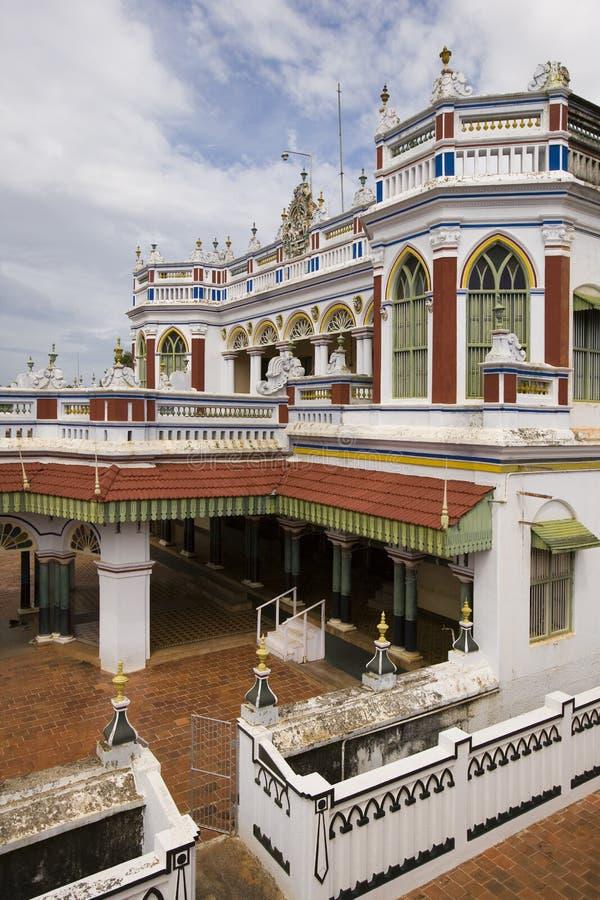 Chettiar Palace in Karaikudi - Tamil Nadu - India. The Chettiar Palace in Karaikudi in the Chettinad area of the Tamil Nadu region of southern India stock photo