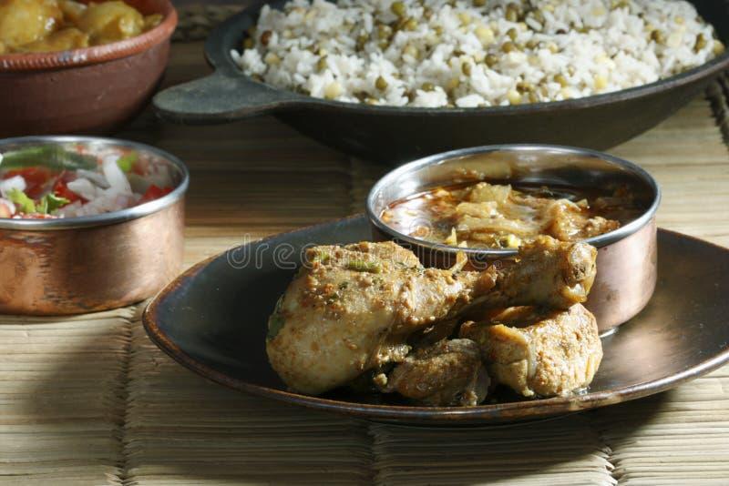 从chettinad区域的一种辣鸡准备 库存照片