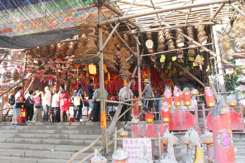 Cheung Chau Bun Festival 2013 foto de archivo libre de regalías